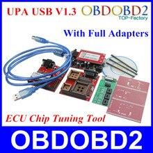 2016 neueste UPA Usb-programmierer V1.3 Mit Vollen Adaptern USB-UPA-USB Serielle Programmierer Auto ECU Chip Tuning Tool 3 Jahre Garantie