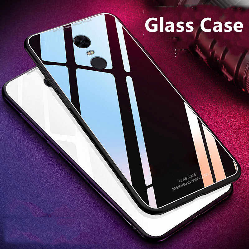 Global Version For Xiaomi Redmi Note 4 Glass Case Luxury silicone TPU Frame+Glass Back Cover Accessory For Xiomi Redmi Note 4X