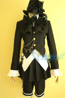 New Clothing Hot Anime Black Butler Band Magician Black Dress Fashion Party Uniform Cosplay Costume Customized