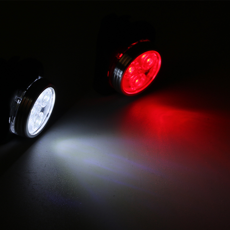 Rechargeable USB Bicycle Bike Tail Light Taillight MTB Riding Cycling 3 LED Rear Seat Front Light Lamp Bycicle Light White/red