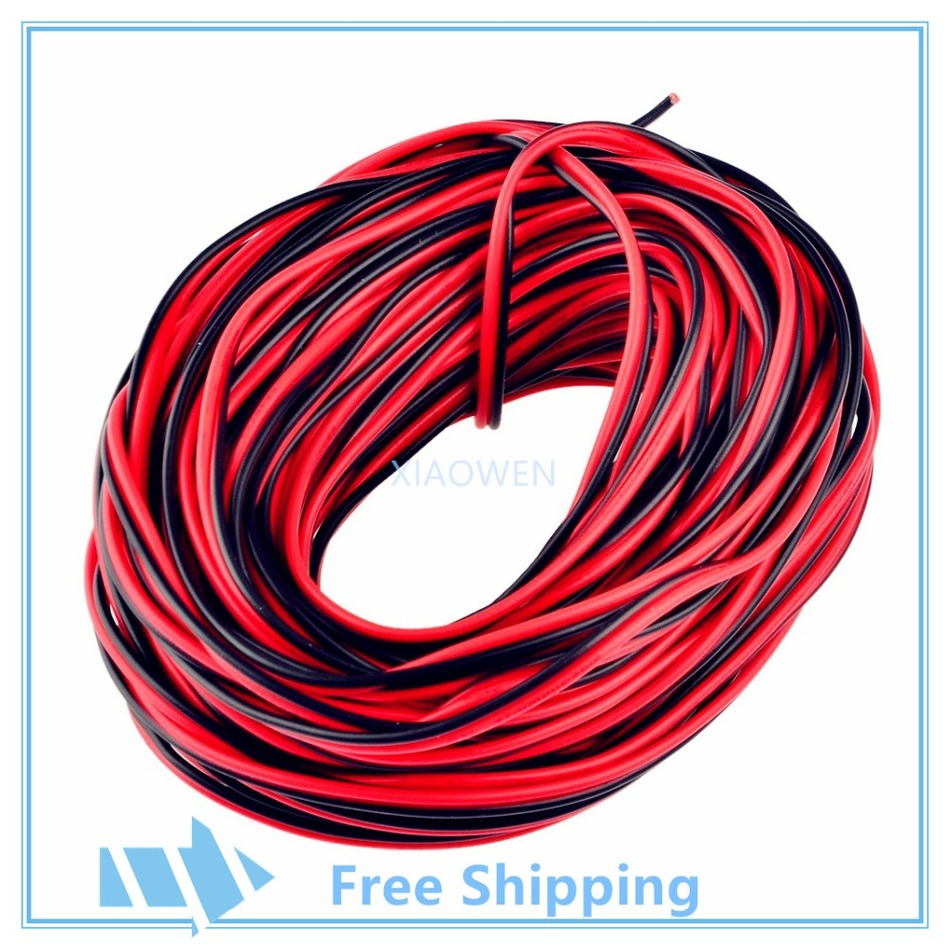 10m 20m 50m 100m 22AWG  2 pin , Red Black cable, PVC insulated wire,Electric cable, LED cable, DIY Connect 1000pcs pack e2510 cord end pre insulated terminals wire bootlace ferrules for 14 awg 2 5mm2 10mm pin of length brass tubes