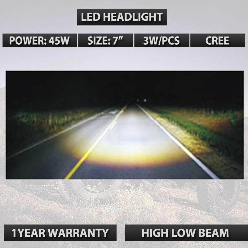 7-дюймовый круглый объектив 45 Вт H4 из светодиодов лампы для JP Вранглер JK & Харли черный