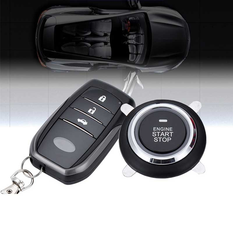PKE Car Alarm System Push Button Start Keyless Entry Remote Starter Stop Supporting Android/Ios Car Engine System