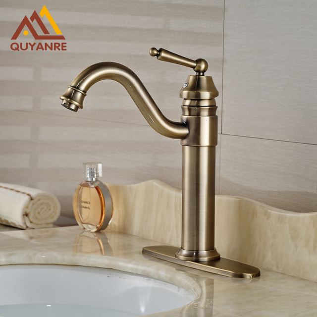 Wholesale and Retail Deck Mounted Basin Mixer Tap Antique Bronze ...