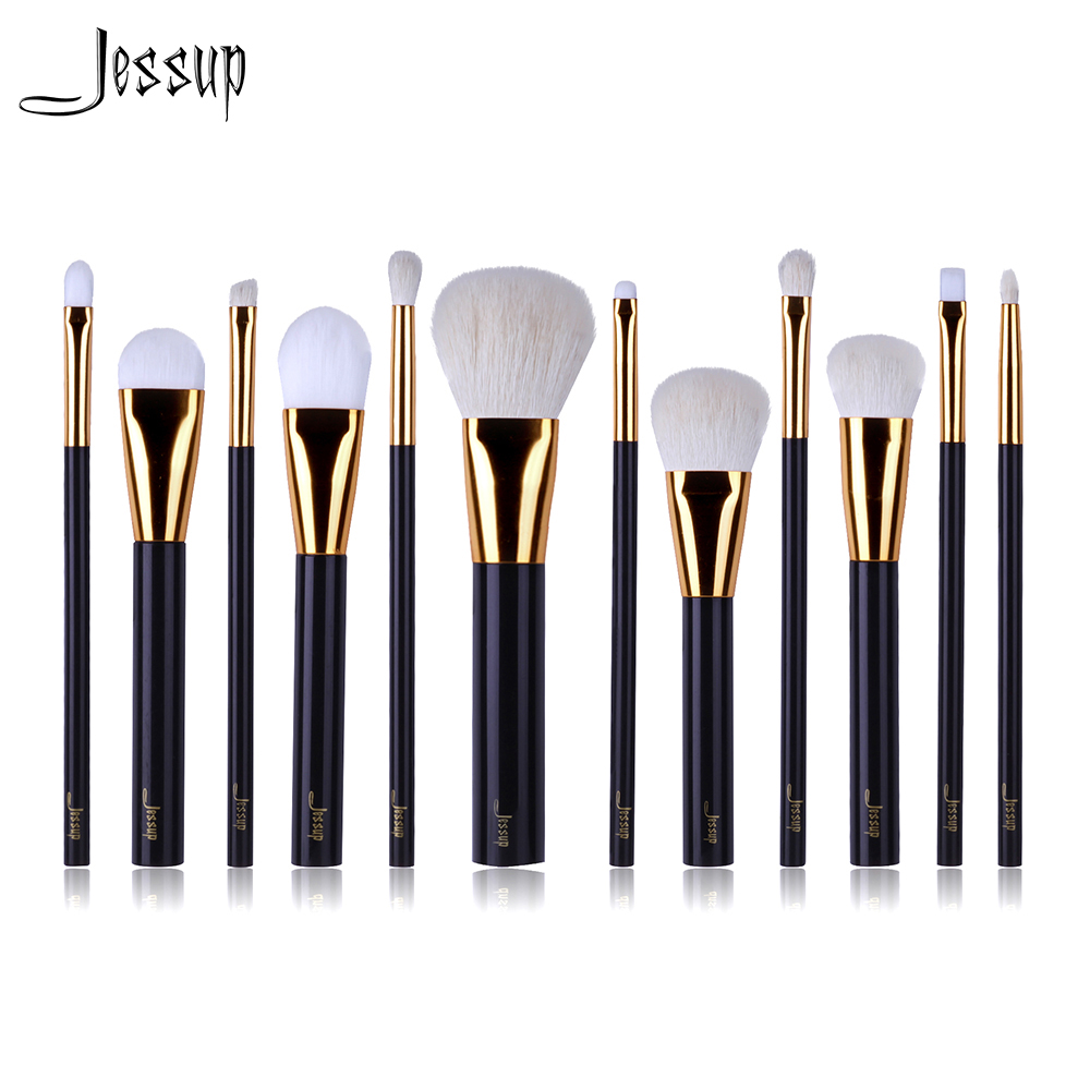 2017 NEW Jessup 12pcs Professional Makeup Brushes Set Beauty Kits Make up brush Cosmetics Tool foundation Eyeshadow Powder Lip msq 12pcs makeup brushes set powder foundation eyeshadow make up brush professional cosmetics beauty tool with pu leather case