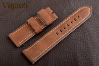 D270 Brown Genuine Leather Watch Strap 24 22mm Unique Watchband With Buckle