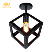 American Vintage LOFT Single Style Ceiling Light Corridor Entrance Balcony Room Ceiling Lamp Indoor Lighting Fixture