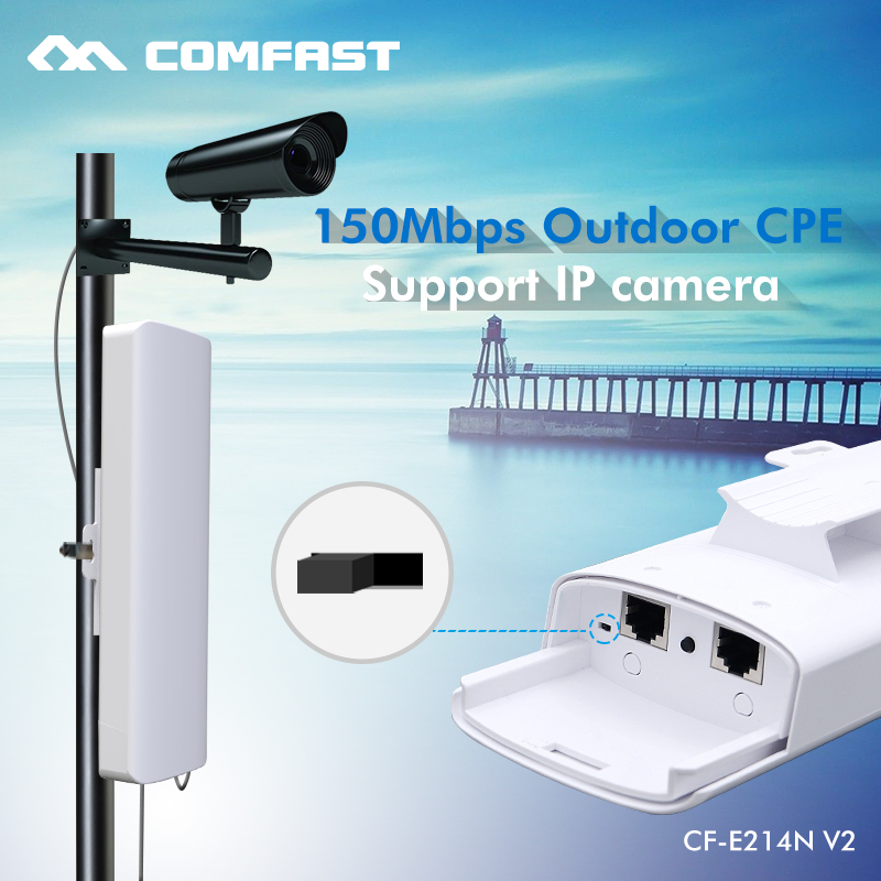 Comfast Wireless outdoor Wifi Repeater 150Mbps Access Point Repeater Wi-fi Antenna Signal Booster Amplifier Wi fi Router CF-E214 comfast cf wr750v2 dual band 750mbps wifi repeater roteador 802 11ac wireless router 2 4 5 8ghz long rang wi fi signal amplifier