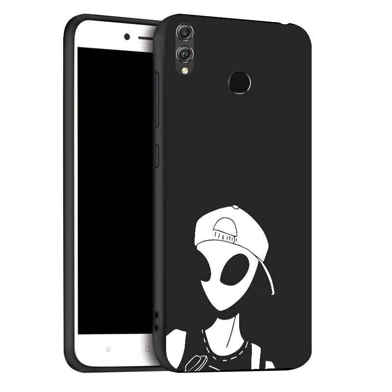 3D Fai da Te Verniciato per Il Caso di Huawei Honor 8X 8A 10 Lite Custodie Nero Posteriore Della Copertura Del Telefono per Huawei Honor 7C 7A Pro 9 Lite 20S Paraurti