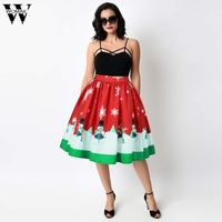 Womail Pencil Women Skirt A Line Skirt Bodycon Skirts Christmas Snowman Xmas Tree Santa Claus Wintersweet