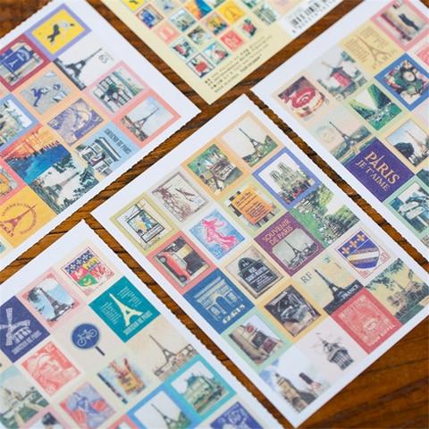 30 pacotes lote amor vintage em paris selos dobraveis adesivos diy multifuncional adesivo romantico franca