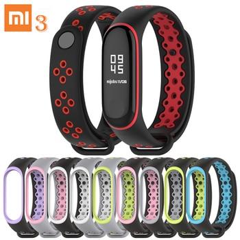 Sports version Silicone Wristband Mi Band 3 Wrist Strap for Xiaomi Mi Band 3 Bracelet Fashion Lightweight Mi Band 3 Strap