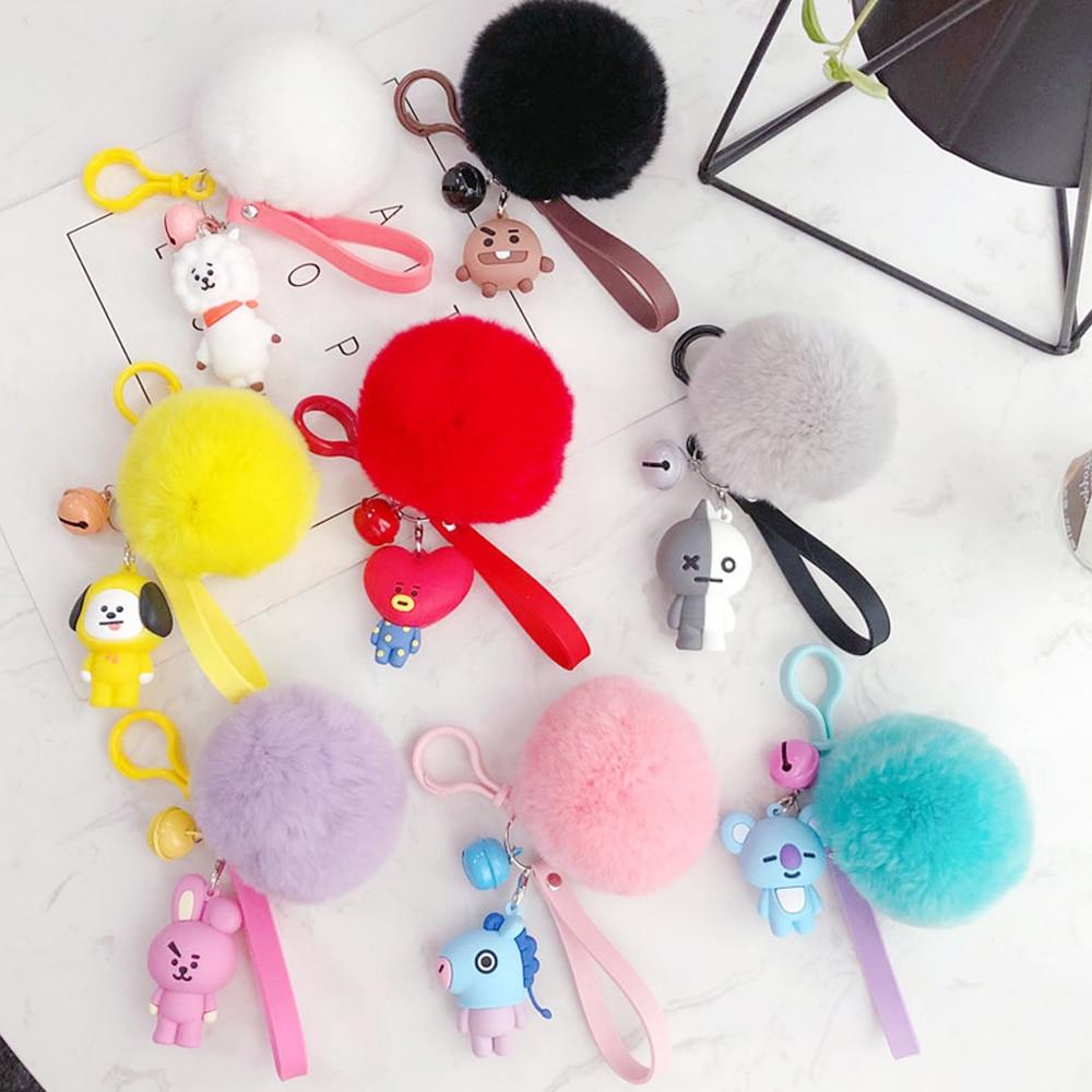 Cat Plush Toy Keychain 10cm*8cm Womens Bag Ornament Hanging Ornaments Bt21 Vipkid Children Toys Cinnamoroll Tata Plush Keychain Stuffed Animals & Plush