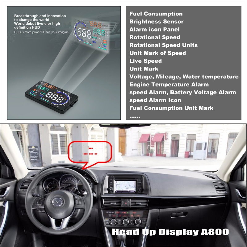 Car HUD Head Up Display For Mazda CX-5 CX 5 CX5 2013 2014 2015 Refkecting Windshield Screen Safe Driving Screen Projector liislee car hud head up display for fiat bravo brava ritmo 2007 2015 safe driving screen projector refkecting windshield