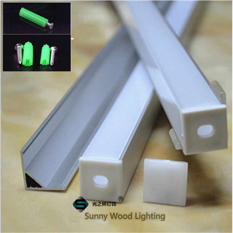 5 30pcs lot 40inch 1m right angle led aluminium profile for 10mm PCB board led corner