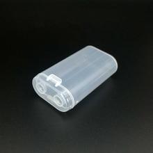 цена на 2Pcs 2X18650 Plastic Battery Box Two Sections 18650 Transparent Storage Box PP Strong Hard Holder Case