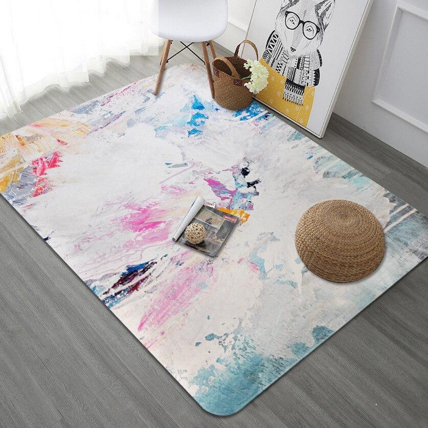 WLIARLEO Art série tapis zone tapis pour chambre salon blanc antidérapant tapis de sol décoration de la maison tapete para sala 120x180 cm