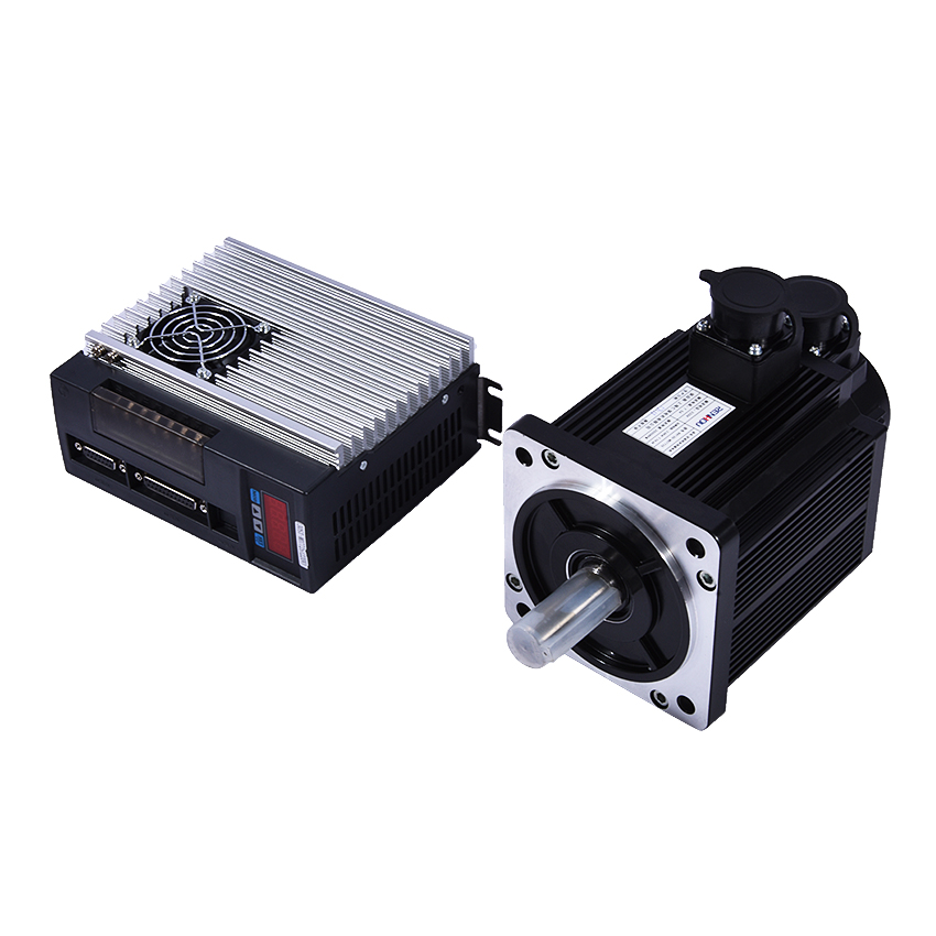 1 set NEW 2.0KW AC Servo Motor with Driver 7.7N.M 2KW 2500rpm 130ST-M07725 AC Motor