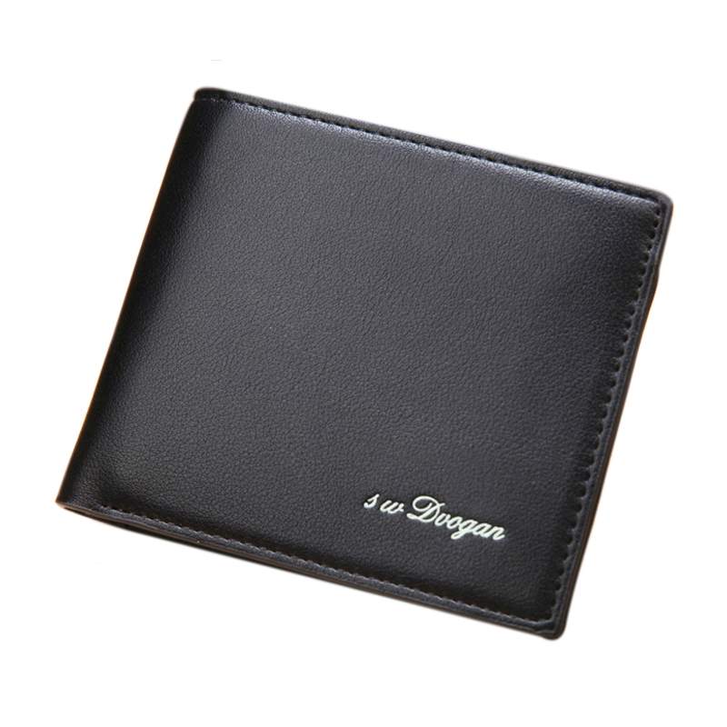 Male Purse Men Leather Wallet Card Coin Purse Holder Short Money Bag High Quality Cash Pocket Casual Male Wallet Portomonee