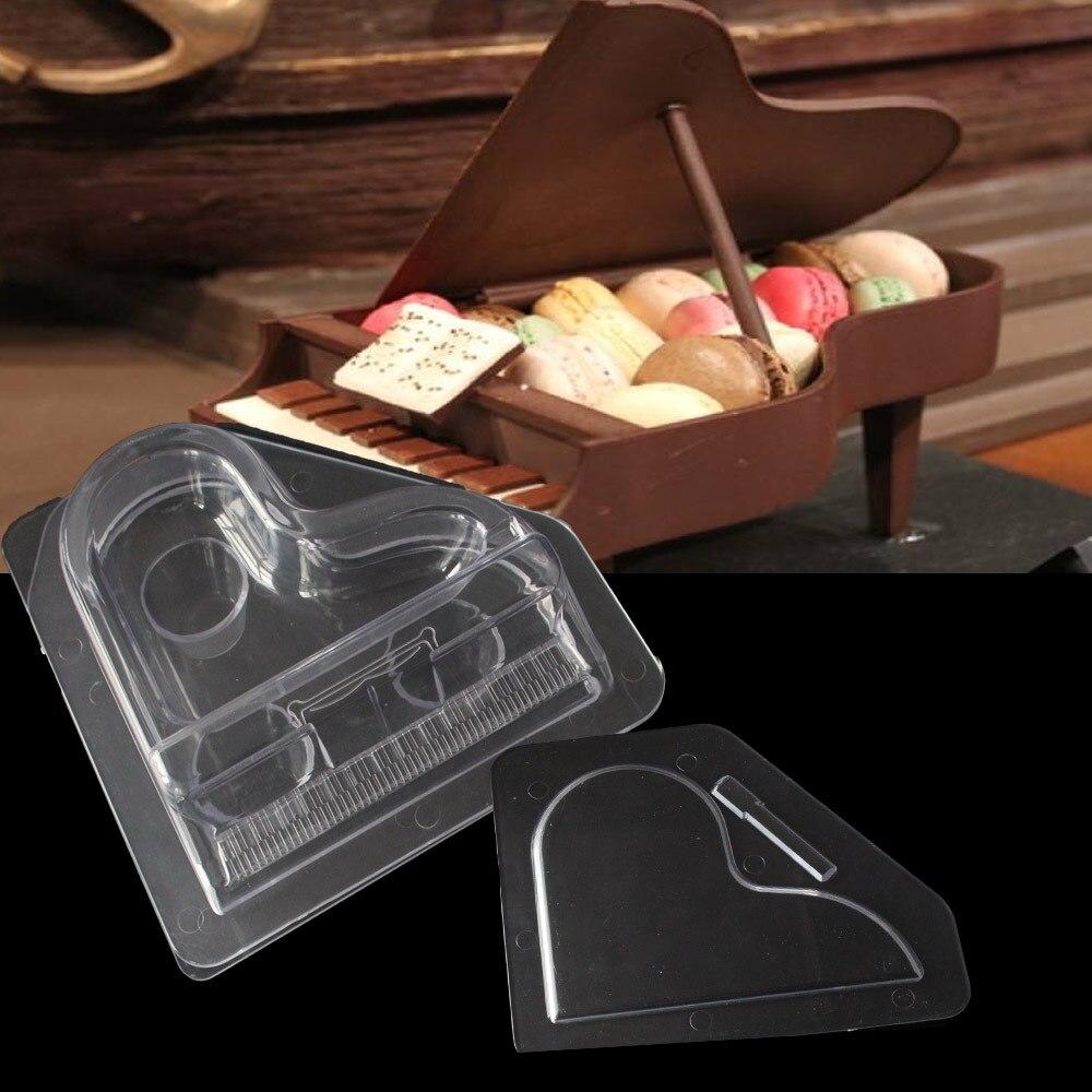 Aouke new 3D Piano Chocolate Mold Transparent Food Grade pc Mold