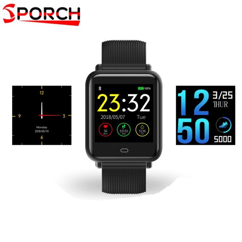 цена на Q9 Colorful Screen Waterproof Sports Smart Watch for Android / iOS with Heart Rate Monitor Blood Pressure Functions smartwatch