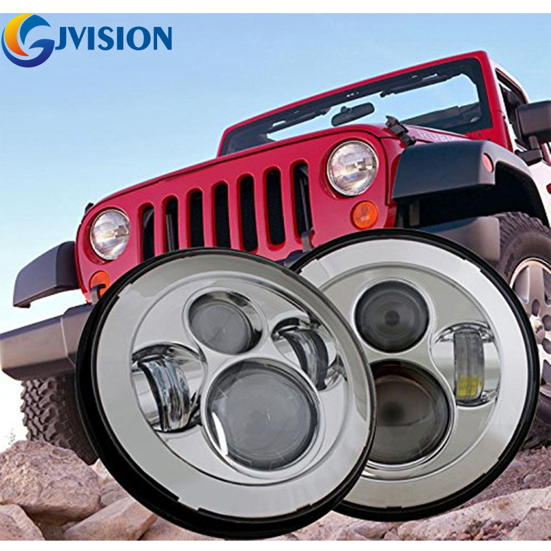 Harley Daymaker 7'' Round LED Headlight Projector LENS 6000K High/Low beam for Jeep Wrangler JK CJ Land Rover Yamaha Silver пуловер quelle rick cardona by heine 31107 page 4
