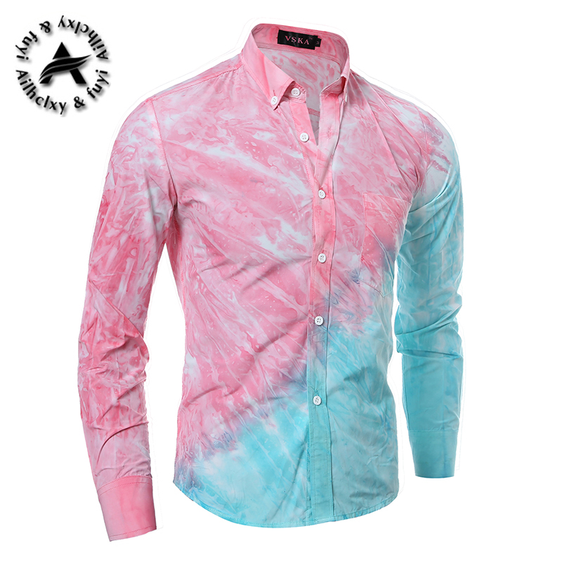 ecf0fcd2 2016 newFloral Men Shirt sleeve Luxury Brand Shirt Slim Fit Casual Fashion  Mens Clothes Camisa Masculina-in Casual Shirts from Men's Clothing &  Accessories