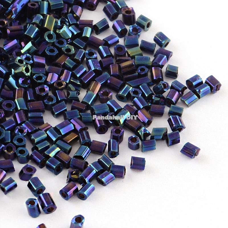 Glass Seed Beads 3.6mm size 6//0 Metallic Silver 60g Jewellery Craft