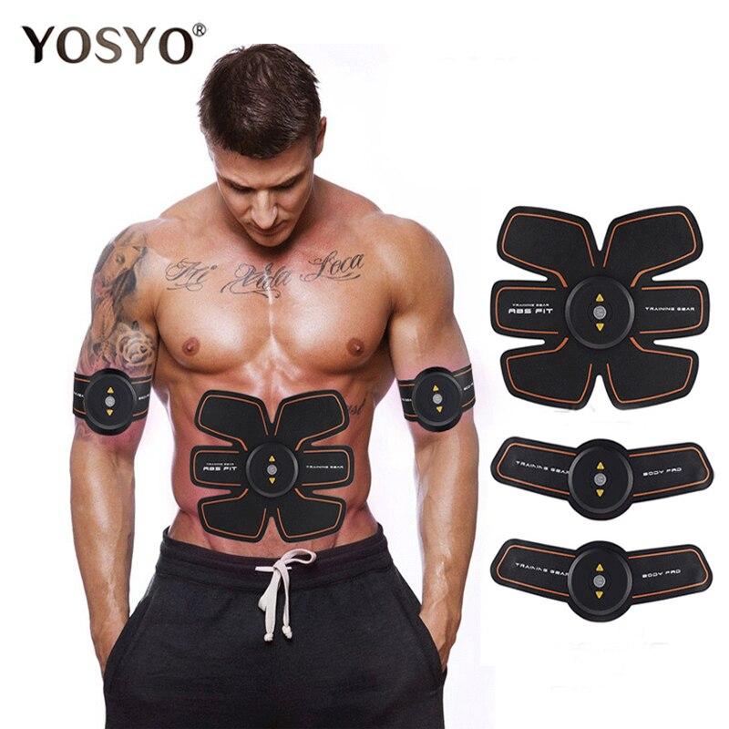 Rechargable Elektrische Pulse Behandlung Muscle Stimulator EMS Stimulation Körper Abnehmen Maschine Bauch Muscle Exerciser Ausbildung