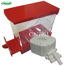 1 pc Dental Cotton Roll Dispenser & 50 pcs Drawer-type Red
