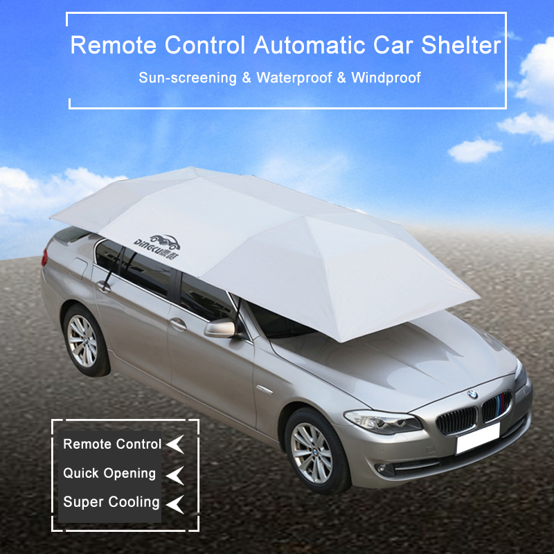 New Quick Opening Automatic Sun Shelters Remote Control Car Tent Anti-UV Sun Shade Awning for All Models Flattop Car Umbrella
