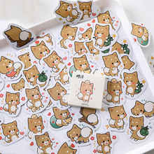 цена на 45 pcs/pack Cartoon Animal Dog Stickers Cute Stationery Stickers Adhesive Paper Stickers Scrapbooking for Diary DIY Decoration