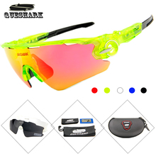QUESHARK Men Women Polarized Cycling Sunglasses Uv400 Protection Mountain Bike Glasses Bicycle Goggles Cycling Eyewear 3 Lens