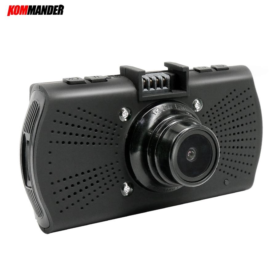 цена на Kommander Ambarella A7LA70 Night Vision DVR for Car DVR GPS Camera LDWS Full HD 1296P DVR Recorder Dash Cam