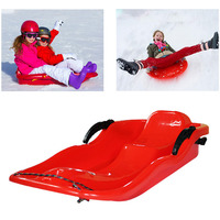 Outdoor Sports PE Plastic Skiing Boards Sled Luge Snow Grass Sand Board Ski Pad Snowboard With Rope For Adult and Children