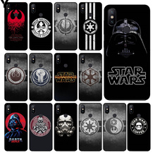 Yinuoda star wars logo  Smart Cover Black Soft Shell Phone Case for Xiaomi MI MIX 2 2S 6 8 8SE Note 3 Redmi 5 plus
