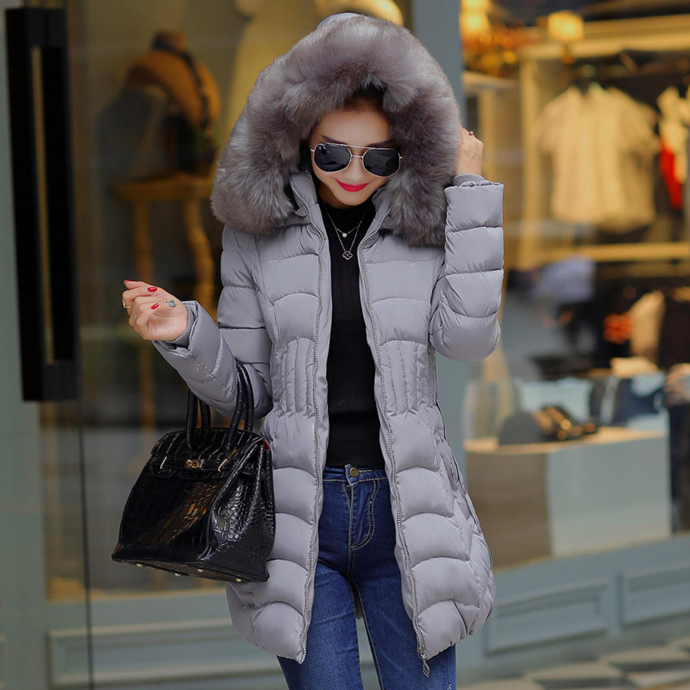 Solide Mince Coton Trench Mode Noir Parka Nouvelle D'hiver gris Femmes Manteau Veste 2018 vert bourgogne Femelle Long Chaud Manteaux OEPvq5w
