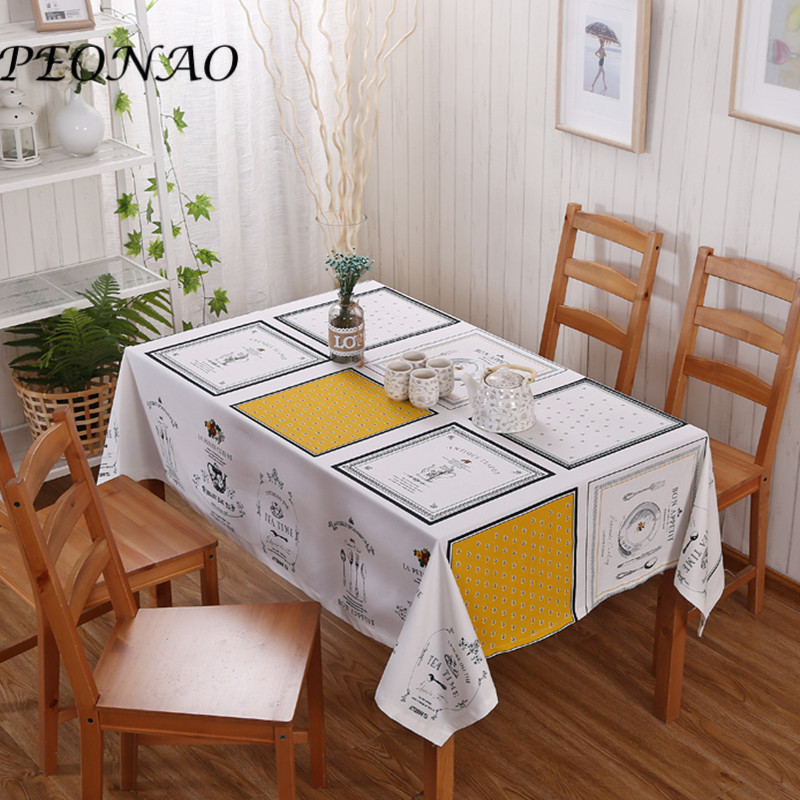 product 2017 New Arrivals Decorative Linen Tabel Covers for Hotel and Outdoor Party Dinning Table Covers Pastoral Tablecloths