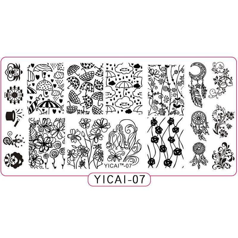 1 Pc Nail Art Druck Platte Bild Stanzen Platten Diy Maniküre Template Tool Set Nagel, Platte Stanzen Nagel Kunst Modernes Design