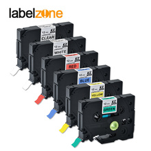Tze-Tape Tze731 P-Touch-Printers Tze 231 6-Colors Compatible for Mixed 6pack