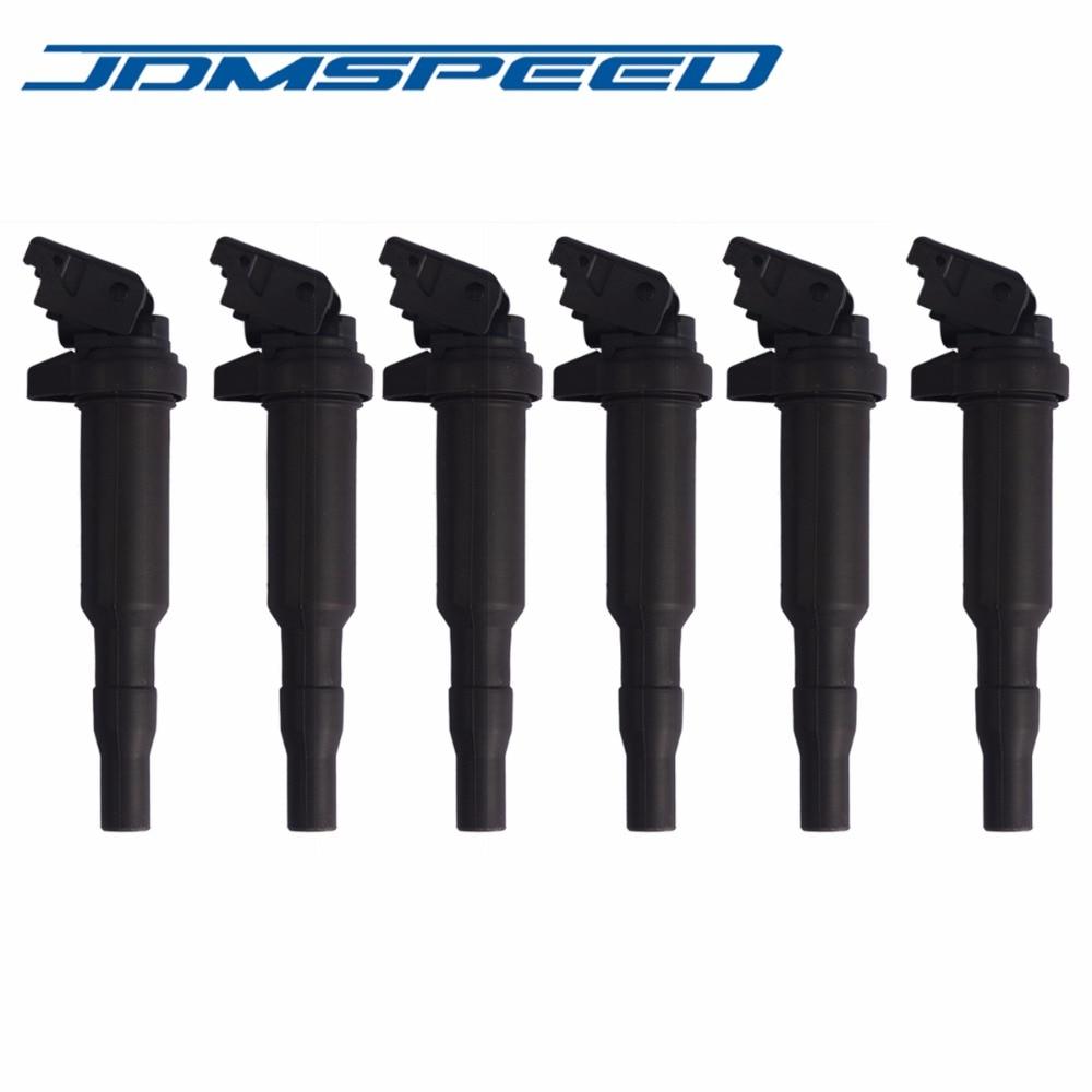 Free Shipping 6 Pcs Ignition Coils 12137594937 Fits For BMW E46 E53 E60 E70 E85 E90