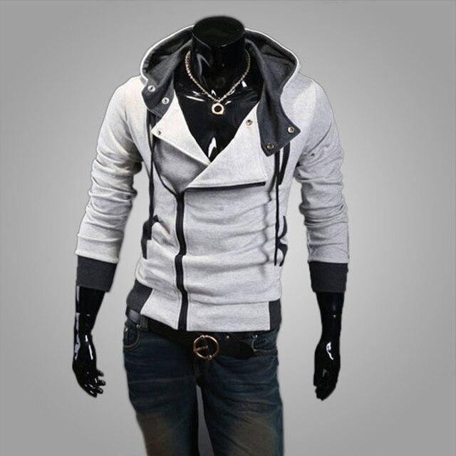 2018 Casual Cardigan Men Hoodie Sweatshirt Long Sleeved Slim Fit Male Zipper Hoodies Assassins Creed Jacket Plus Size M-6XL 4