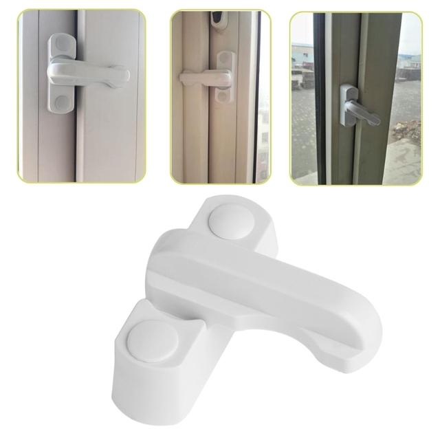 Plastic Child Safe Security Window Door Sash Lock Safety Lever Handle Sweep Latch