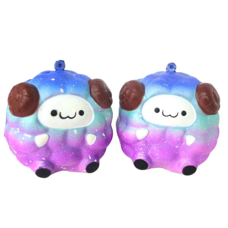 Cute Rainbow Colorful Slow Rebound Toy Starry Sheep Fun Kid Toy Gif
