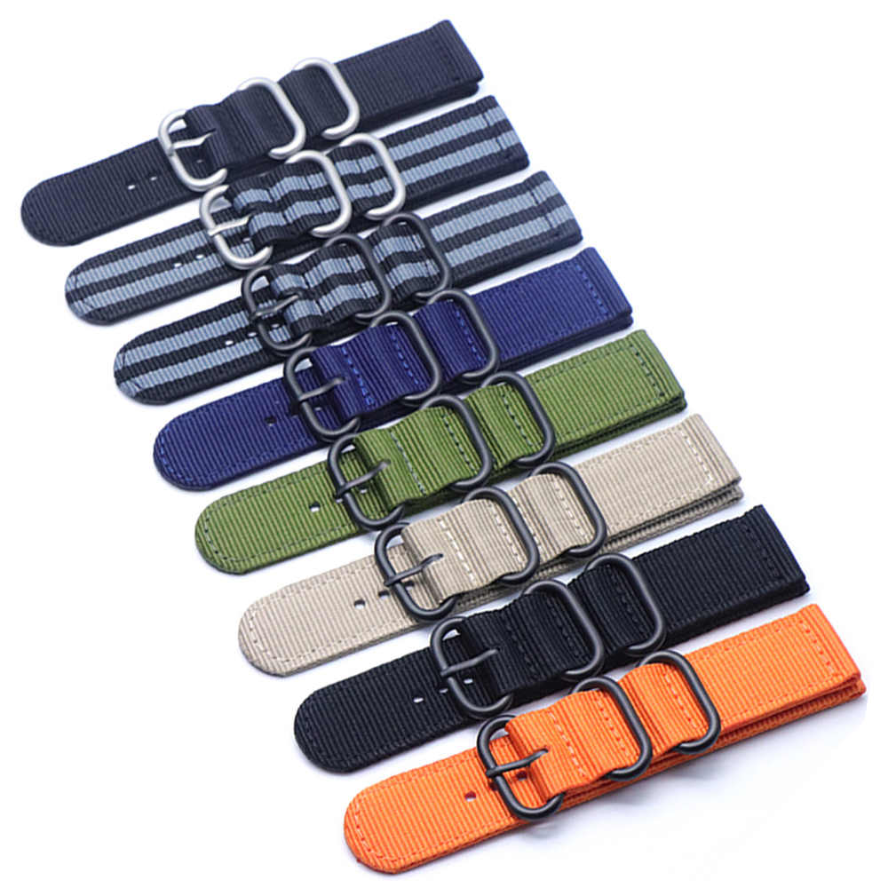 6 colors NATO strap strap watch Nylon black ring buckle mm 18mm 20mm 22mm 24mm For Samsung Gear S3 Frontier S2