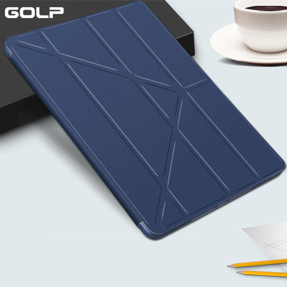 Do Caso da aleta para o ipad Mini Caso 5, GOLP PU de Couro Ultra Slim + Soft TPU Voltar Smart Cover para ipad Mini 5 2019 caso