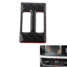 Carbon Fiber Car Middle Console Air Vent Outlet Switch Button Frame Cover Trim Sticker For Audi A4 B8 A5 2013-2015(China)