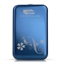 PROMOTION! 2.5″ SATA External Hard Drive Enclosure Housing Case Hard for USB3.0 Blue