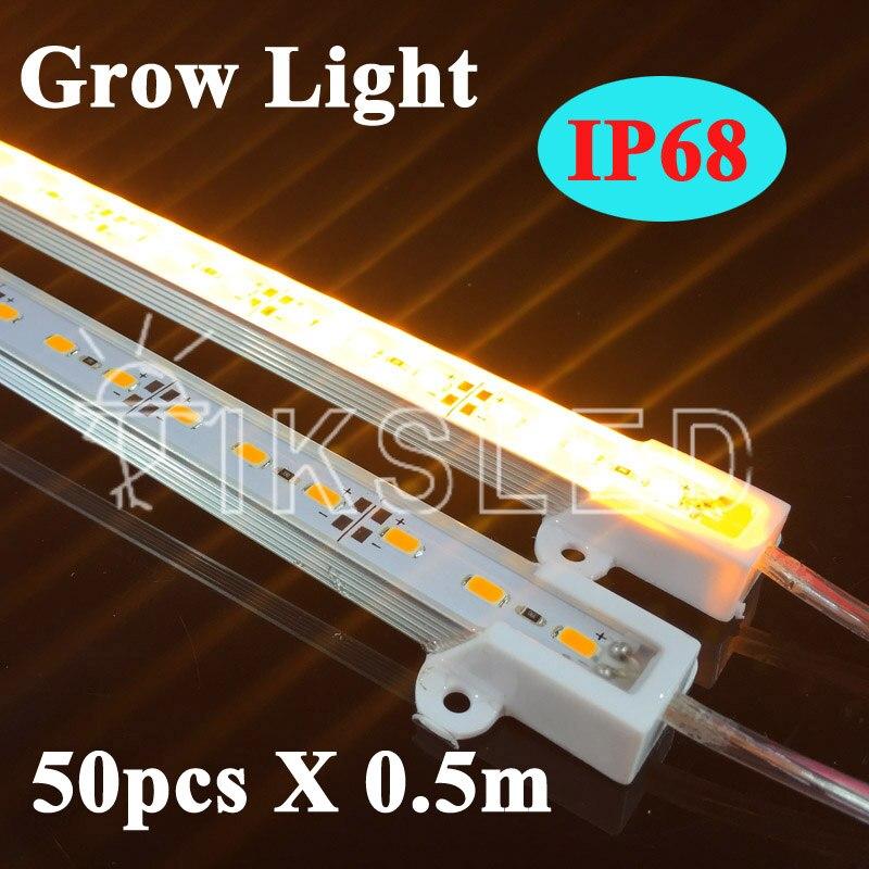 5730 спектральная фитопанель жесткая лента свет 12 В IP68 Водонепроницаемый привело бар  ...