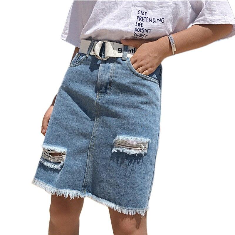 Popular Denim Skirts Knee Length-Buy Cheap Denim Skirts Knee ...